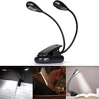Підсвічування для читання книг Led Гнучка лампа на прищіпці портативний Світильник для ноутбука Ліхтарик прищіпка