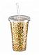 """Стакан поликарбонатный охлаждающий с трубочкой """"Блестки"""" Benson BN-285 розовый   стакан с блетсками Бенсон, фото 8"""