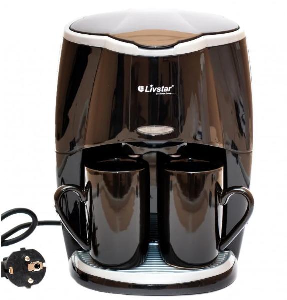Кавоварка Livstar LSU 1190 650W + 2 чашки 220V   кавова машина з двома чашками