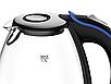 Стеклянный электрочайник Maestro MR-054 (1.7 л, 2200 Вт, подсветка) | электрический чайник Маэстро, Маестро, фото 2