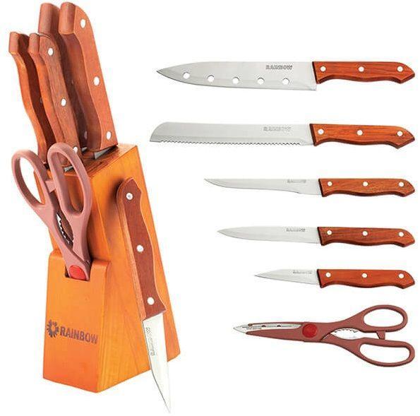 Набор ножей из нержавеющей стали на подставке MAESTRO MR-1401 (7 пр.) | кухонный нож Маэстро | ножи Маестро