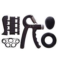 Набор эспандеров кистевых (4 шт.) 60 кг для пальцев и запястья JELLO FI-2527 металл
