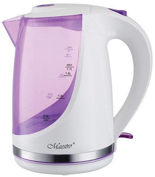 Чайник Maestro MR-044 (1.7 л, 2200 Вт) рожевий | електричний чайник Маестро | чайник Маестро