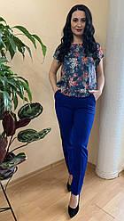 Костюм женский летний синие брюки и блуза