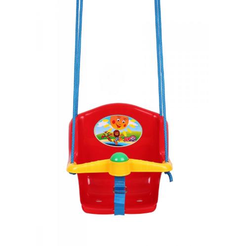 Дитяча гойдалка з пискавкою Технок 1790 Сонечко Червона | гойдалка для дитини | пластикова підвісна гойдалка