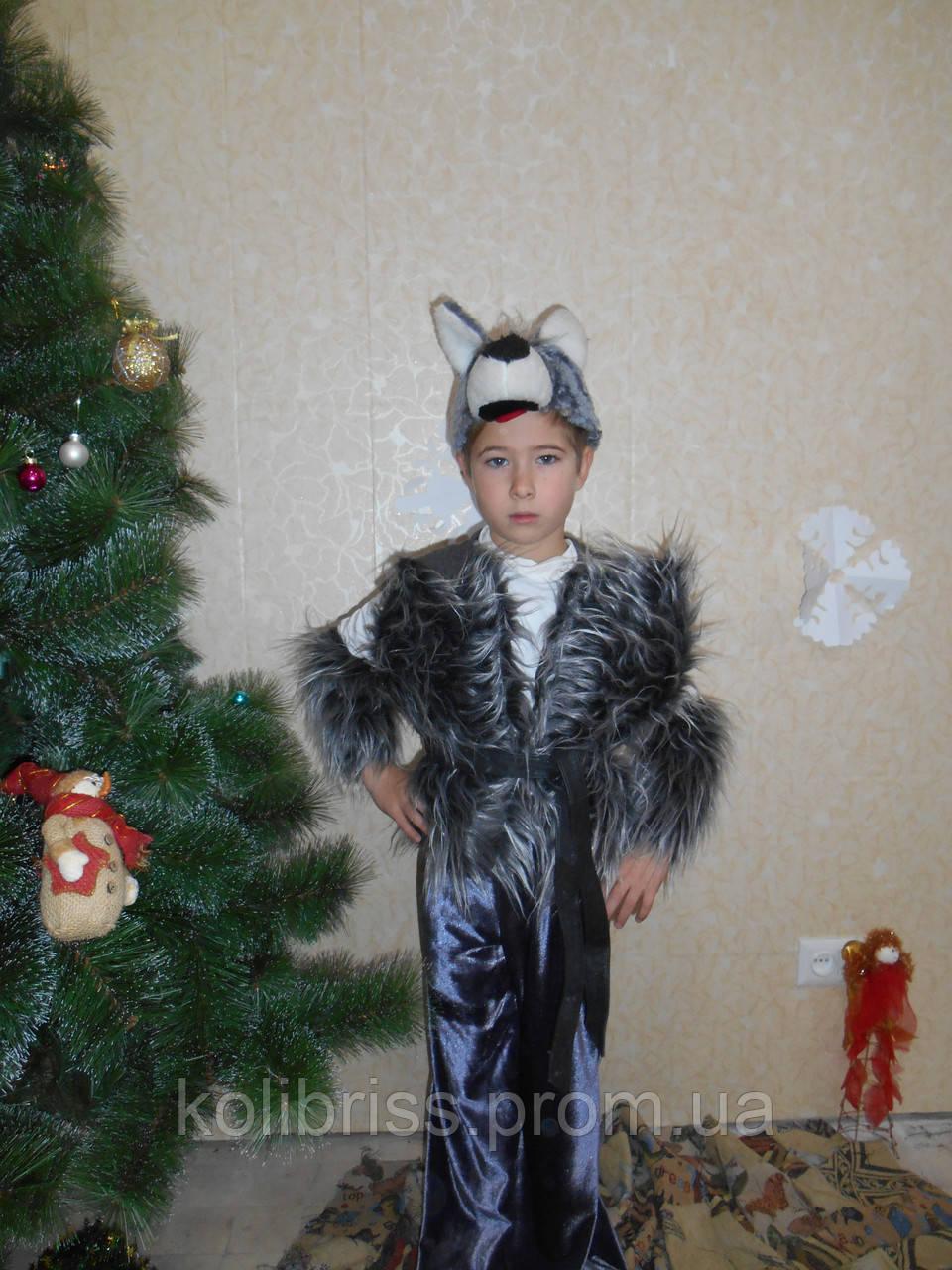 Костюм шикарного волка р.122-134 см прокат