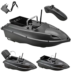 Прикормочный кораблик для рыбалки с пультом с 1 бункером   Лодка катер для прикормки рыбы на радиоуправлении