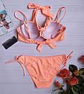 Купальник норма Анжелика Sisianna с паетками радуга персиковый, фото 3