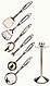 Кухонний набір з 7 предметів Maestro MR-1540   лопатка   вилка для м'яса   ополоник   шумівка   картофелемялка, фото 4