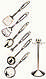 Кухонный набор из 7 предметов Maestro MR-1540 | лопатка | вилка для мяса | половник | шумовка | картофелемялка, фото 4