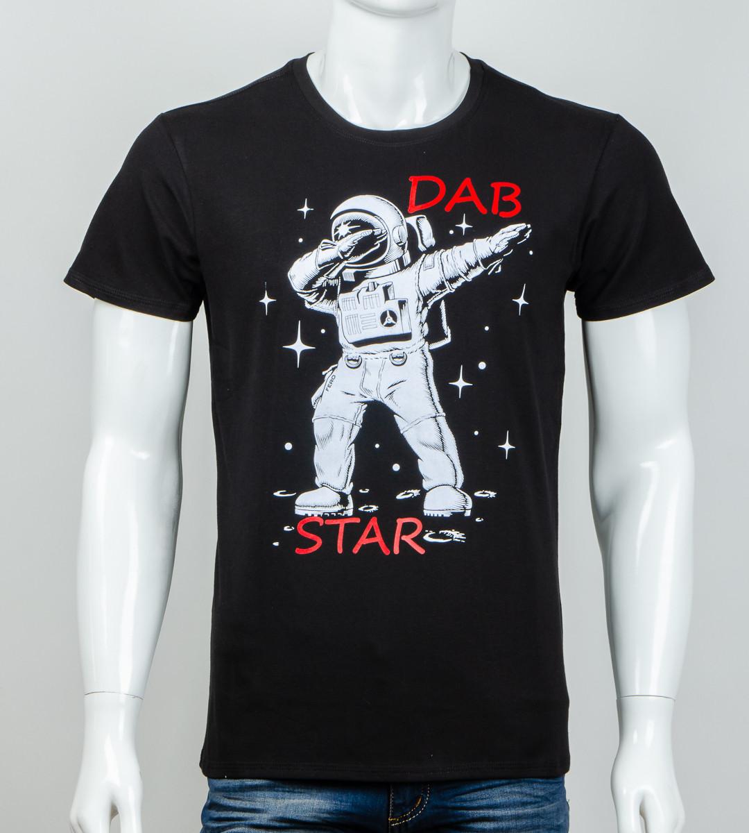 -Р - Футболка чоловіча світиться в темряві DAB Star Чорний (2061м), L