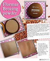 Бронзер  пудра Flormar Bronzing Powder face & body