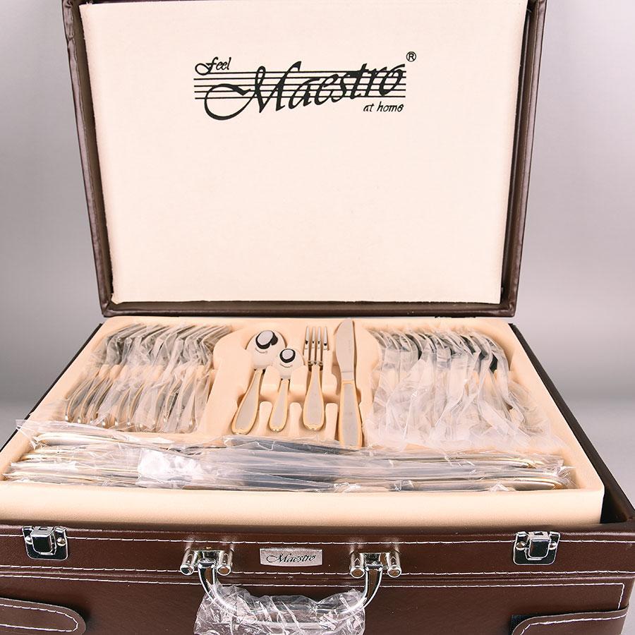 Столовий набір Maestro MR-1515-72 Фраже 72 предмета   Набір столових предметів у валізі Маестро, Маестро