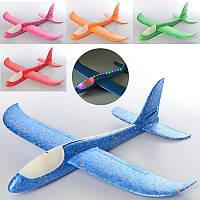 Самолет с пенопласта светящийсяCH48-2, планер пенопласт, 49см, свет, 5 цветов