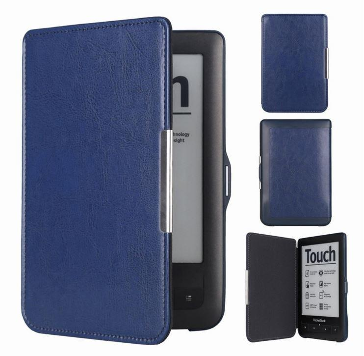 Чехол обложка PocketBook 622  Touch  темно синий