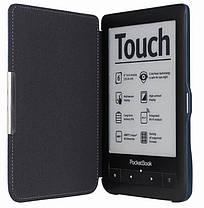 Чехол обложка PocketBook 622  Touch  темно синий, фото 2