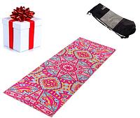 Килимок (мат) для йоги та фітнесу PVC+замша 173*61*3 мм рожевий ,чехол у подарунок