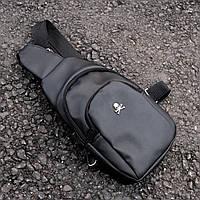 Мужская сумка на грудь PP Skull Bazer слинг