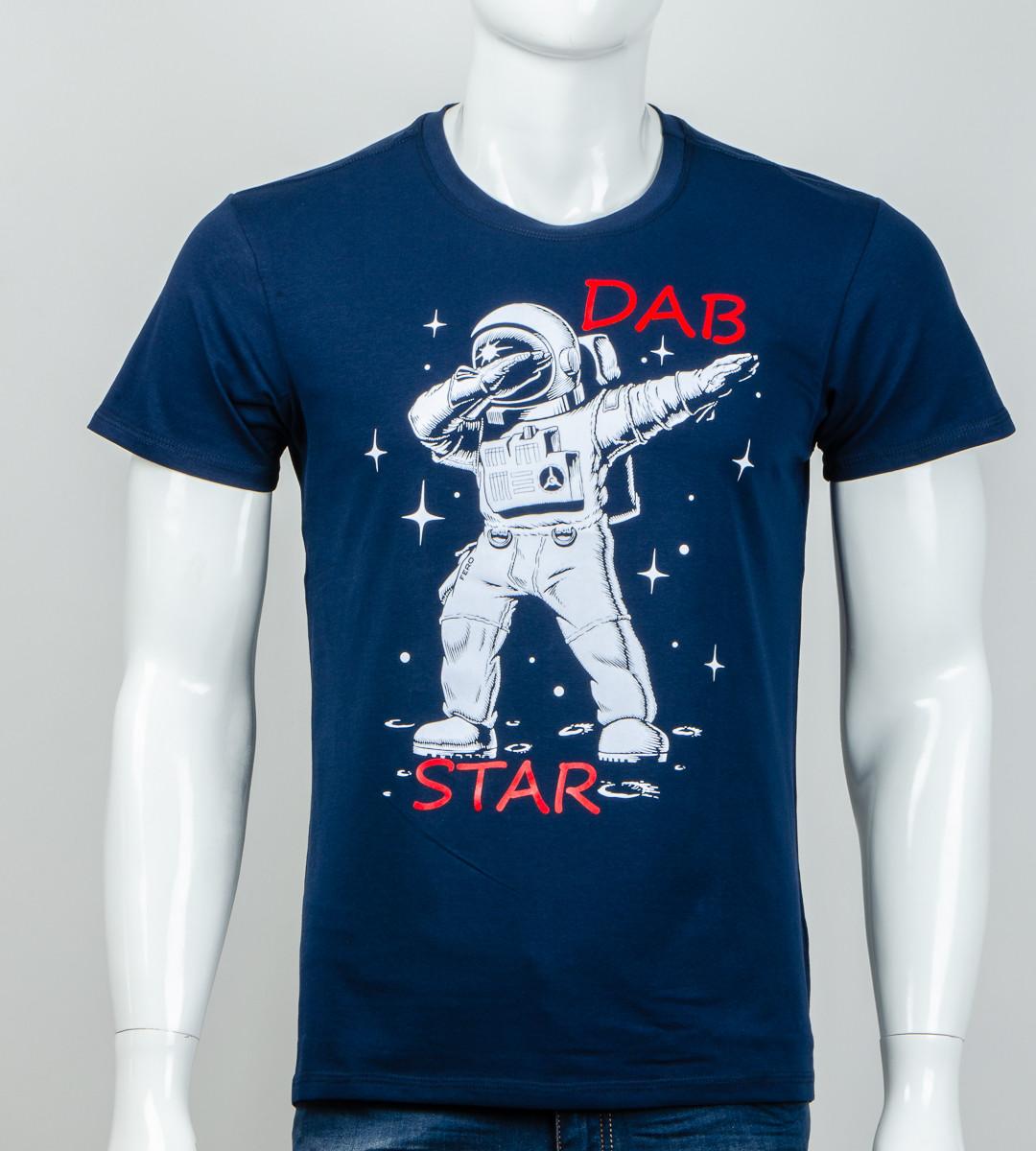 -Р - Футболка чоловіча світиться в темряві DAB Star Синій (2061м), M
