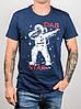 -Р - Футболка чоловіча світиться в темряві DAB Star Синій (2061м), M, фото 4