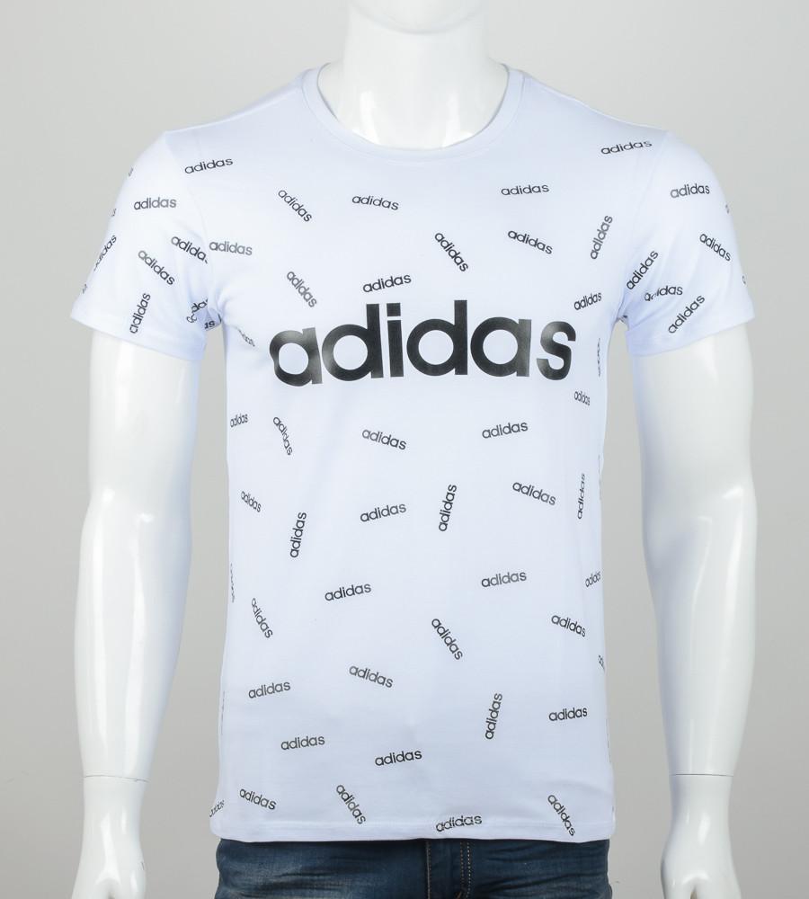 -Р- Футболка мужская сублимация Adidas Белый (2078м), XL
