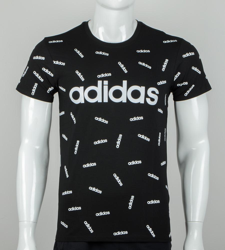 -Р - Футболка чоловіча сублімація Adidas Чорний (2078м), XXL