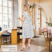 Платье расклешенное летнее принт софт 50-52,54-56,58-60, фото 8