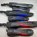 Велосипедні крила з червоними вставками, фото 6