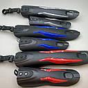 Велосипедні крила з синіми вставками, фото 5