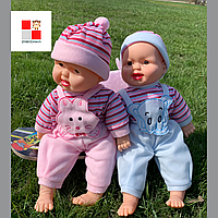 Кукла пупс мягконабивной, Пупс Хохотун, кукла мягкая, кукла норовожденный, кукла малыш. ВИДЕО ОБЗОР
