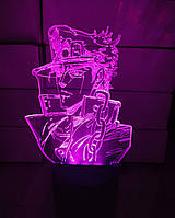 3d-светильник Аниме, ДжоДжо, 3д-ночник, несколько подсветок (на батарейке)