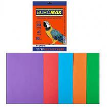 Набор бумаги д / печати цвет. А4 5 Когда. 20арк BUROMAX микс INTENSIVE 80г / м2 (1/150)