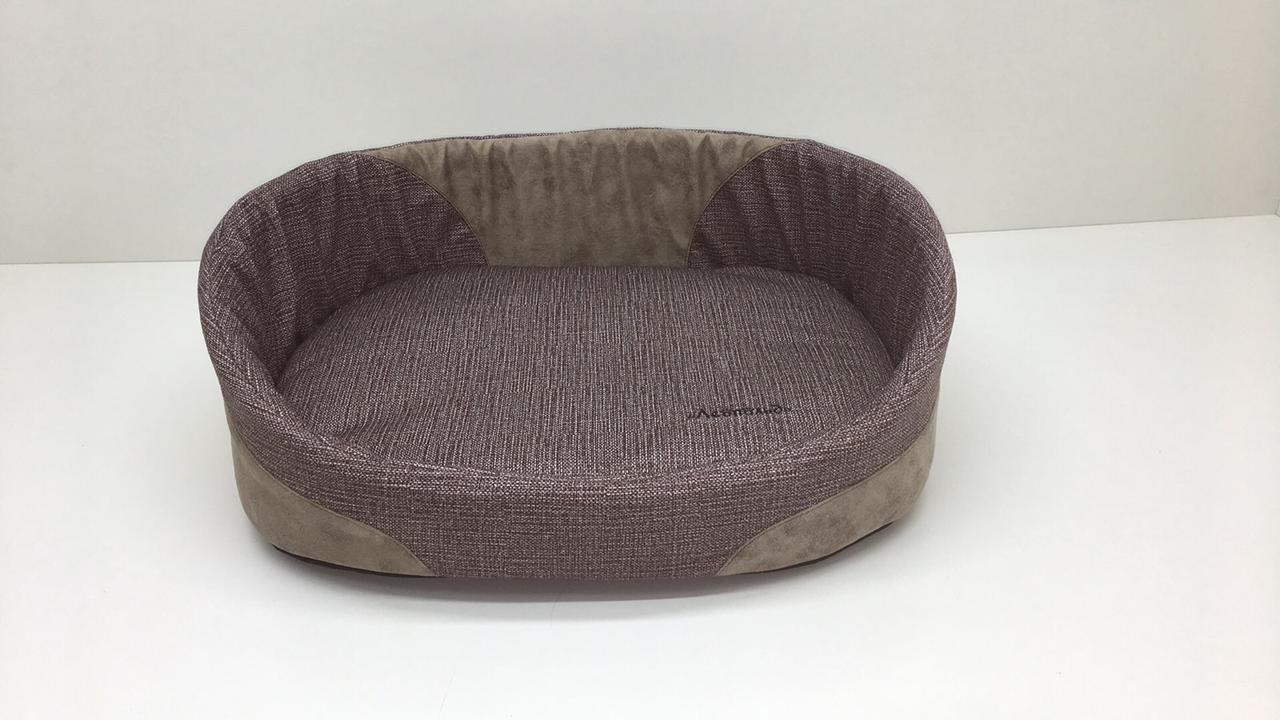 Лежак для котів і собак Меланж №7 58х82х22 коричневий