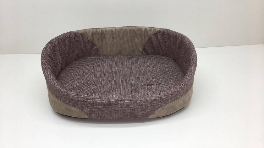 Лежак для котів і собак Меланж №7 58х82х22 коричневий, фото 2