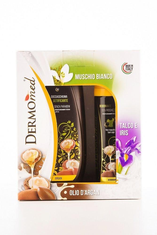 DOVE Подарунковий набір в картоні DERMOmed (дезодорант 150мл.,гель для душу 250мл.)