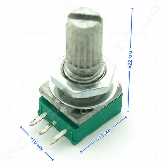 Потенціометр WH9011B 10K L=15mm