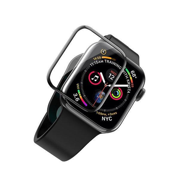 Захисне скло Mocolo для Apple Watch 44 mm (PG3727) 3D Curved Full Cover Tempered Glass з олеофобним покриттям