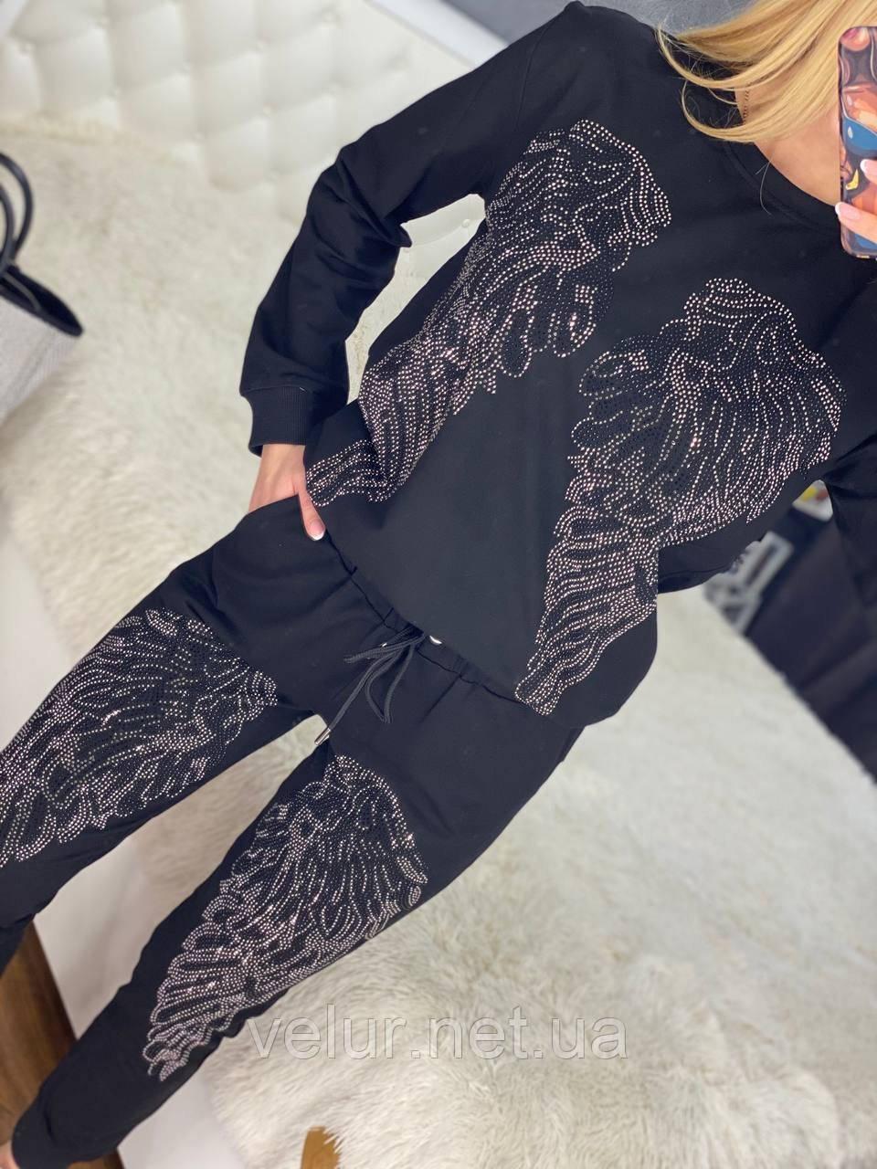Женский летний  брендовый спортивный костюм (Турция); Размеры:44-46;46-48;48-50, 4 цвета