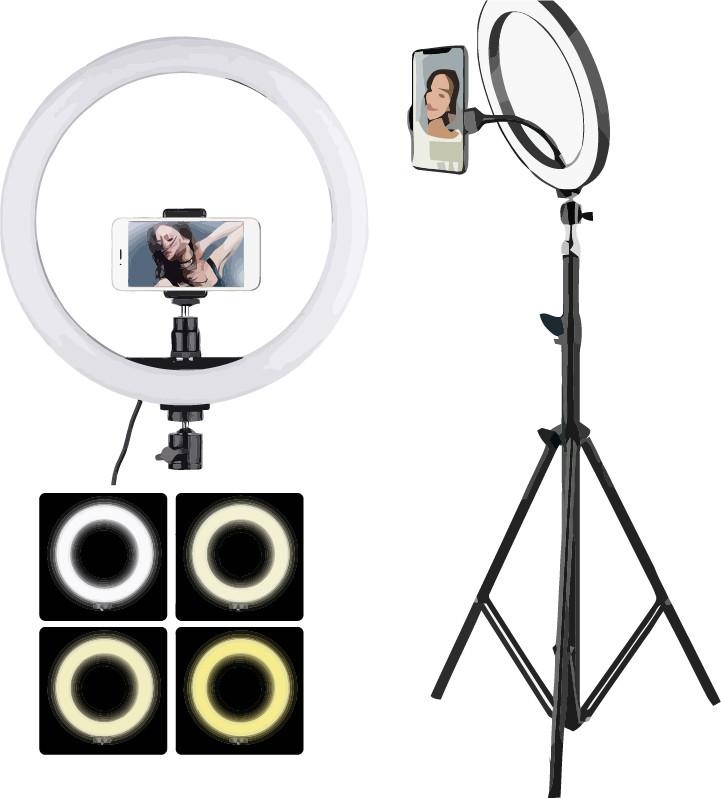 Лампа блогера, Тик Ток, Кольцевая лампа 26 см Led лампа, кольцо кольцевой свет + ШТАТИВ 2 метра