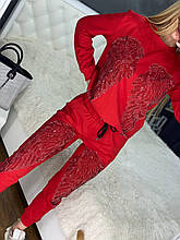 Жіночий річний брендовий спортивний костюм (Туреччина); Розміри:44-46;46-48;48-50, 4 кольори