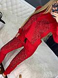 Жіночий річний брендовий спортивний костюм (Туреччина); Розміри:44-46;46-48;48-50, 4 кольори, фото 5