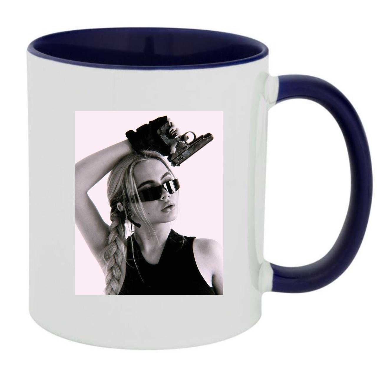 Кружка чашка Леді Діана Lady Diana Пістолет Біла