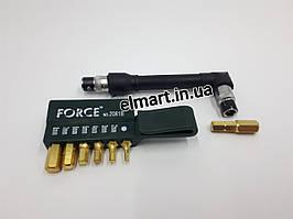 Г-образная отвертка с комплектом бит FORCE 6-гранные 8 предметов 2081B