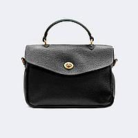 Модная женская черная сумка кожаная средняя 9919, фото 1