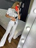 Жіночий літній костюм (Туреччина); розмір С,М,Л,ХЛ повномірні, 4 кольори, фото 3
