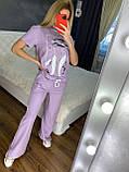 Жіночий літній костюм (Туреччина); розмір С,М,Л,ХЛ повномірні, 4 кольори, фото 4
