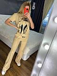 Жіночий літній костюм (Туреччина); розмір С,М,Л,ХЛ повномірні, 4 кольори, фото 5