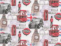 Обои дуплекс Тауэр 7171-06 серо-красный
