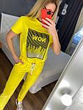 Жіночий літній костюм (Туреччина); розмір С,М,Л,ХЛ повномірні, 4 кольори, фото 2
