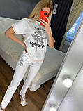 Женский летний костюм  (Турция); разм С,М,Л,ХЛ полномерные, 3 цвета, фото 3